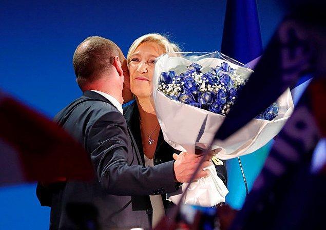 5. Aşırı sağcı Ulusal Cephe (FN) lideri Marine Le Pen, yaklaşık 7 milyon oy alarak, partisinin tarihindeki en büyük başarısını elde etti.