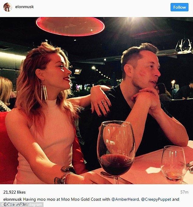 Avustralya'da bir restoranda olduğu anlaşılan yemekteki fotoğrafı Elon Musk kendi Instagram hesabı üzerinden paylaştı.