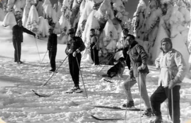 """8. """"Kayak yapmak bir sanattır!"""" diyen havalı sporcular ve aradaki sevimli köpüş artistik pozlar verirken yakalanmış bu fotoğrafta."""