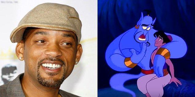 2. Disney'in, kanlı canlı versiyonunu çekeceği Aladdin filminde Genie(lamba cini) karakterini Will Smith oynayacak.