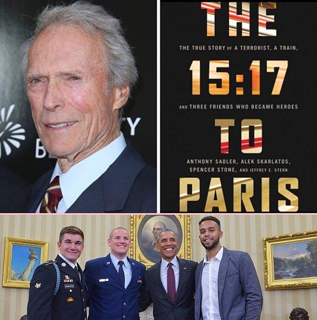 12. Clint Eastwood'un sıradaki filmi belli oldu: The 15:17 to Paris