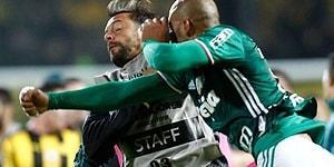 Maç Sonu Rakip Oyuncular Tarafından Kovalanan Felipe Melo Rakibine Yumruk Attı