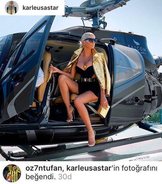 3. Fenerbahçeli Ozan Tufan, Beşiktaşlı futbolcu Tosic'in eşi Jelena Karleuša'nın Instagram'da bir fotoğrafını beğenmişti.