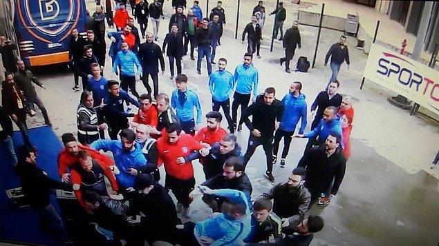 Rizespor maçından sonra Başakşehirli bazı futbolcular, A Spor muhabiri ve kameramanına saldırmıştı.