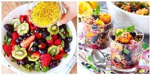 Vitamin Depolarınızı Dolduruyoruz! Ağzınızın Suyunu Akıtacak Muhteşem 12 Meyve Salatası