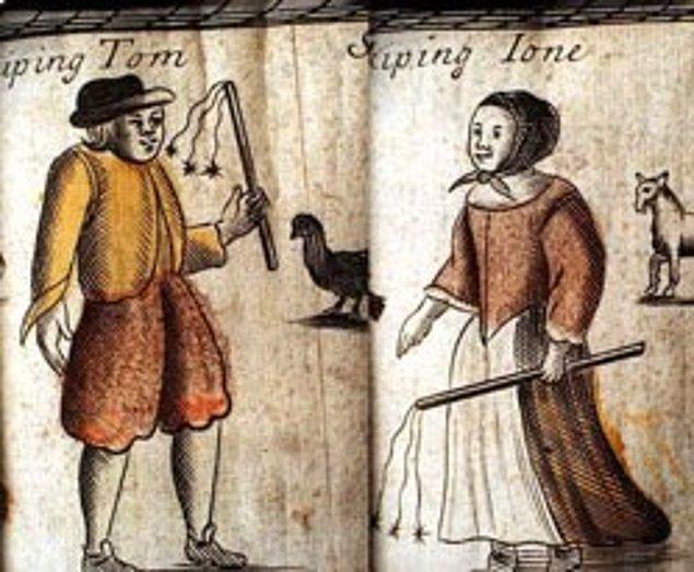 7. Whipping Tom (Kırbaççı Tom) 18. yüzyılda İngiltere yaşıyordu. Yalnız gezen kadınları yakalayıp elbiselerini sıyırdıktan sonra popolarını kırbaçlıyordu.