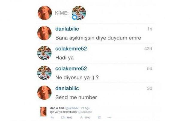 Hatta internet fenomeni Danla Bilic, Türk futbolcuları bu yolla tiye almıştı.