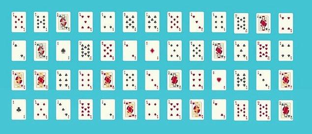 5. Oyun kartlarının diziliş versiyonları, dünya üzerindeki atom sayısından daha fazladır.