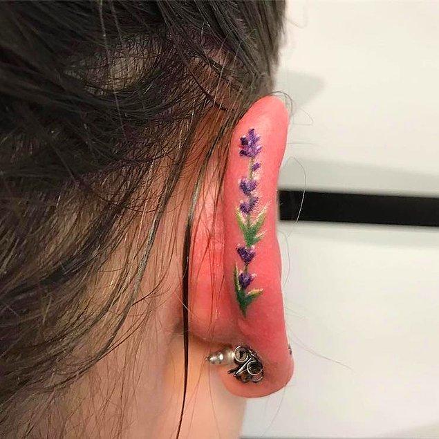 2. Kulak dövmeleri, Instagram aracılığı ile patlayan yeni bir akım durumunda.