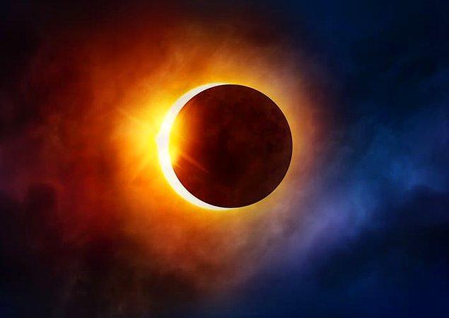 16. Ay'ın Dünya'dan görünen boyutunun, güneş tutulması boyunca güneşle neredeyse aynı boyutta olması tamamen tesadüften başka bir şey değildir.