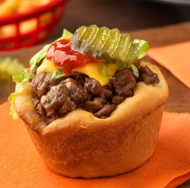 6. Açık hamburgerimizi deneyin