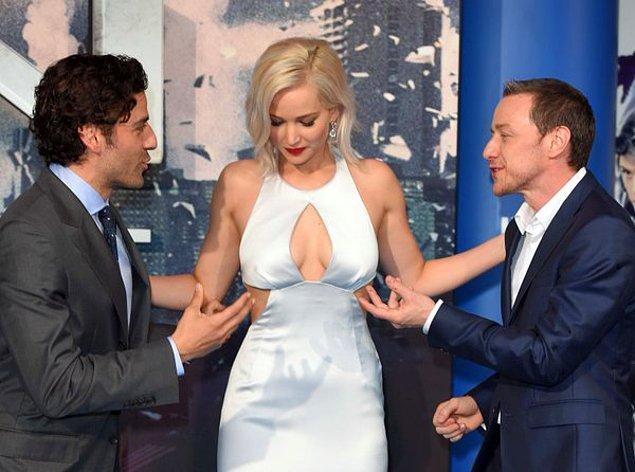 17. Oscar Isaac, James McAvoy ve Jennifer Lawrence