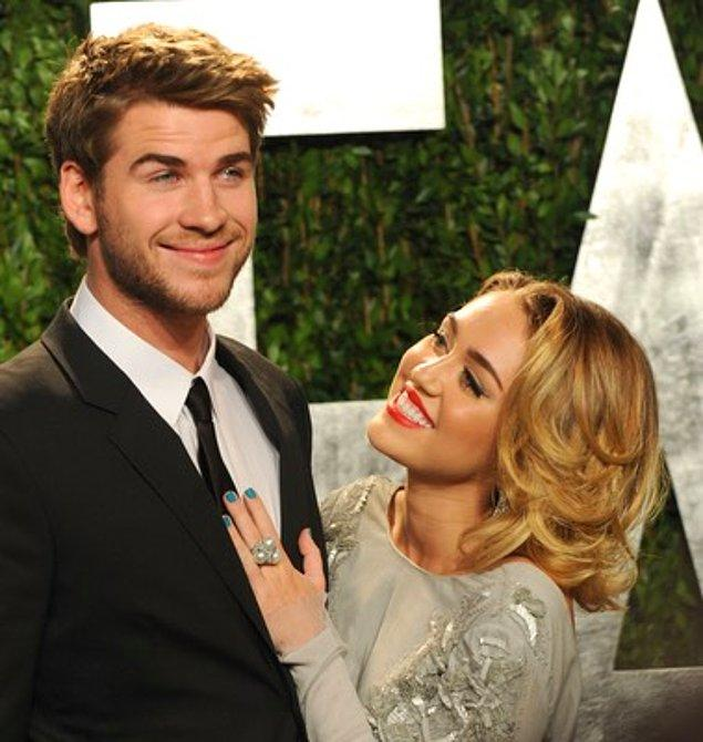 25. Liam Hemsworth ve Miley Cyrus