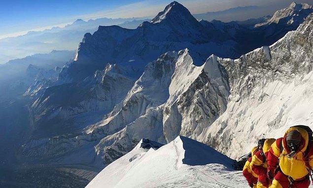 11. Dağcılar gelenek olarak öldükleri dağın eteklerinde gömülür. Everest Tepesi'nde 200'den fazla dağcı cesedi bulunmaktadır.