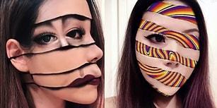 Optik İllüzyonların Kraliçesi: Makyaj Yaparak Gözleri Yanıltan Kadın!