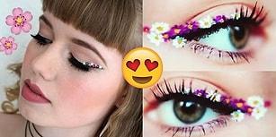 Baharın Gelişiyle Çiçek Aşkı Kabaranlara Yepyeni Trend: Rengarenk Çiçekli Eyeliner