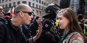 Çek Cumhuriyeti'nde Neo-Nazi Gösterisindeki Irkçı Bir Adama Karşı Gelen 16 Yaşındaki İzci Kız