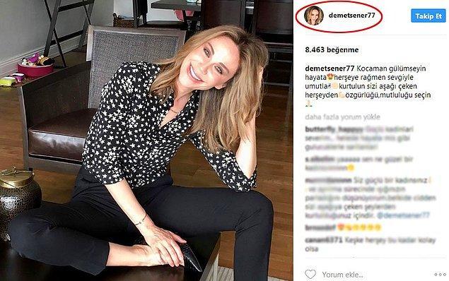 13. İbrahim Kutluay ile boşanma davası halen devam eden Demet Şener, büyük bir adım attı ve sosyal medyada 'Kutluay' soyadını kullanmayı bıraktı.