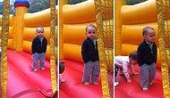 Şişme Oyun Parkında Zıplarken Tarzından Ödün Vermeyen Görebileceğiniz En Cool Çocuk