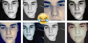 Justin Bieber Buzlu Kahveyle İyice Delirdi, Instagram'da Aynı Selfieyi 8 Kere Paylaştı!