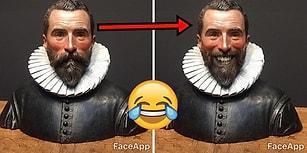 Klasik Sanat Eserlerinin Suratlarını Fazla Ciddi Bulup Onları FaceApp'le Gülümseten Adam