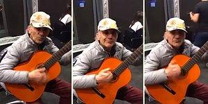 Gitar Performansına Ağzından Çıkan Sesleri Ekleyerek Muazzam Bir Şov Yapan Sokak Sanatçısı