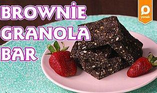 Diyetteyiz Diye Brownie'den Uzak Kalmamıza Gerek Yok! Brownie Granola Bar Tarifi