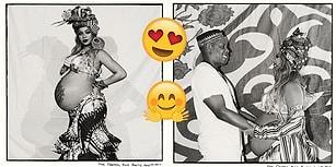 Doğacak İkizleri İçin Sevdikleriyle Verdiği Partide Gülücükler Saçan Gururlu Anne: Beyoncé