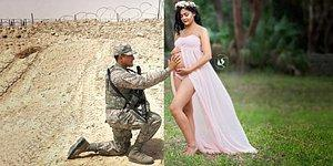 Müstakbel Bir Anne ve Yolunu Hasretle Gözlediği Asker Kocasını Kavuşturan Fotoğraf Çekimi