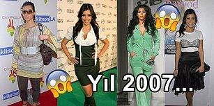 Kardashian Sülalesindeki Moda Anlayışının 2007'den Bu Yana Değişimini Gösteren 23 Kare