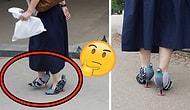 Japonya'da Görenleri Şaşkınlıktan Yamultan Güvercin Ayakkabılı Kadın