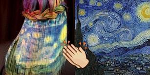 Ünlü Ressamların Klasik Eserlerini Boyadığı Saçlarda Yeniden Canlandıran Renk Ustası