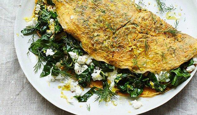1. Dolaptaki malzemelerden enfes bir omlete ne dersiniz?