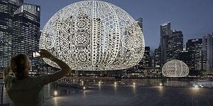 Singapur Marina Işık Festivali İçin 50 Kişinin 2 Ayda Ördüğü Dev Deniz Kestanesi Dantelleri!