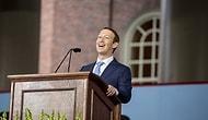 Yarım Bıraktığı Harvard'a Diplomasını Geri Almak İçin Dönen Mark Zuckerberg'in Mezuniyet Konuşması