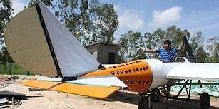 İnsan İstedikten Sonra... Hayatında Hiç Uçağa Binmeyen Tamirci, YouTube Videolarından Uçak Yaptı