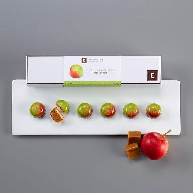 6. Karamel dolgulu, elma çikolatalar! 🍫🍏😳