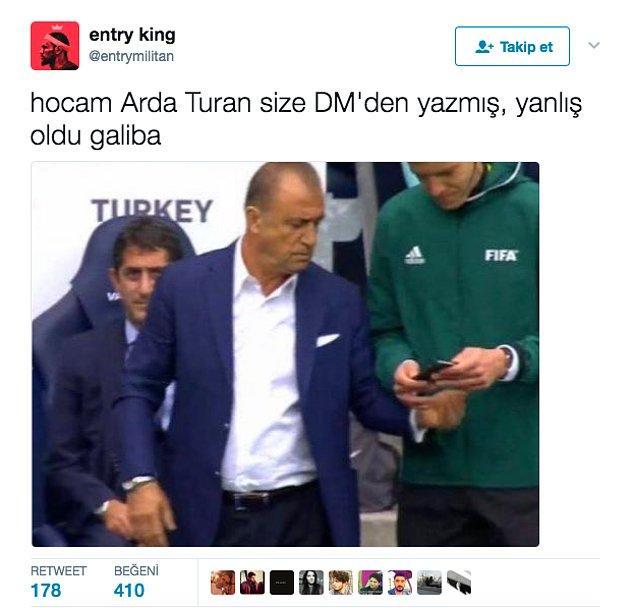 8. Arda Turan tekrar Milli Takım'a çağrılır.