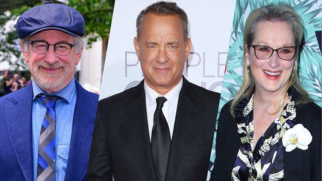 4. Steven Spielberg, henüz isminin belirlenmediği yeni filminin çekimlerine başladı. Başrollerde Tom Hanks ve Meryl Streep olacak.