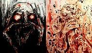 Kendi Kanını Kullanarak Kabuslarını Kağıda Döken Sanatçıdan Tüyler Ürperten 22 Resim
