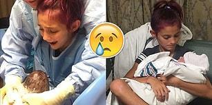 Kardeşinin Doğumuna Yardım Ederken Yaşadığı Heyecanla Herkesi Duygulandıran 12 Yaşındaki Kız