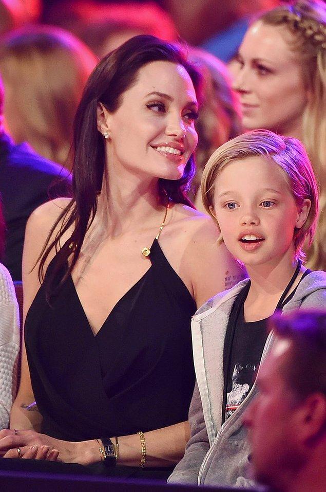 9. Angeline Jolie ve Brad Pitt çiftinin kızı Shiloh Jolie-Pitt...