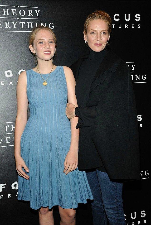 23. Uma Thurman ve kızı Maya Thurman-Hawke