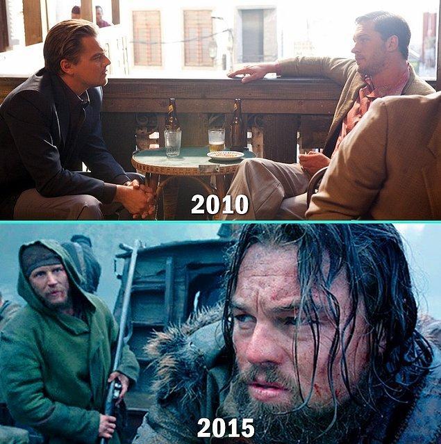 10. Leonardo DiCaprio & Tom Hardy