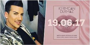 Şimdi Kylie Jenner Düşünsün! Kerimcan Durmaz Kendi Adını Verdiği Kozmetik Ürünleriyle Geliyor!