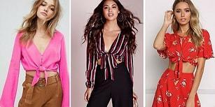 Crop Top'ları ve Omuz Dekoltesini Unutun: Üst Giyimde En Yeni Trend Bağlamalı Bluzler