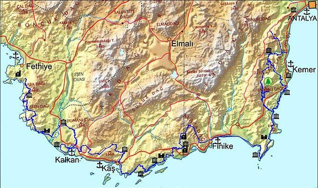 Türkiye'nin ilk uzun mesafeli yürüyüş rotası: Likya Yolu