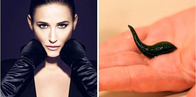 12. Demi Moore, sarkan cildini toparlatmak için estetik cerrahiden değil, sülüklerden faydalanıyor!