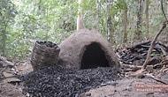Doğada Tek Başına Yaşamanın Şifrelerini Çözen Adamdan Kömür Yapımı