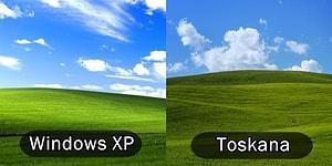 O Aşina Olduğumuz Nostaljik Windows XP Manzarasını Toskana'da Yakalayan Fotoğrafçı